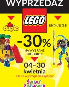 – 30% na wybrane produkty z LEGO