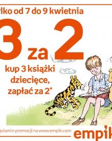 Kup 3 książki dziecięce, zapłać za 2! EMPIK