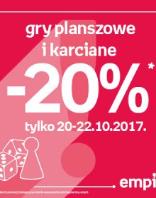 EMPIK -20% na gry planszowe i karciane