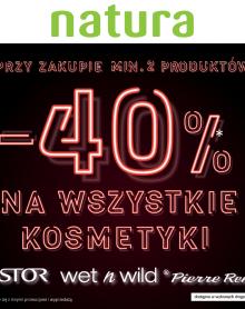 DROGERIA NATURA -40% na kosmetyki!