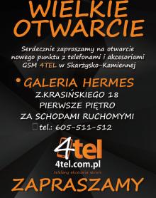 4TEL Wielkie otwarcie -20% na akcesoria!