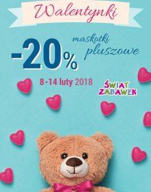 ŚWIAT ZABAWEK Walentynki – 20% na maskotki!