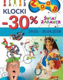ŚWIAT ZABAWEK Klocki Zoob – 30 %