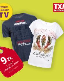 TXM  t-shirty za 9 zł 😊