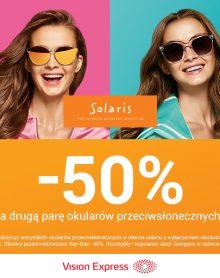 VISION EXPRESS – 50% na drugą parę okularów przeciwsłonecznych!