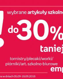 EMPIK Wybrane artykuły szkolne do 30% taniej!