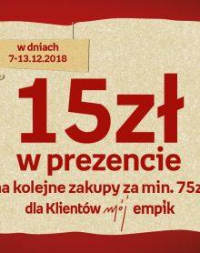 EMPIK 15 zł w prezencie!
