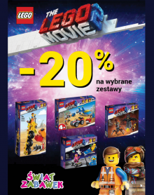 ŚWIAT ZABAWEK – 20%  LEGO MOVIE