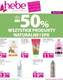 HEBE – WSZYSTKIE PRODUKTY NATURALNE I SPA do -50%