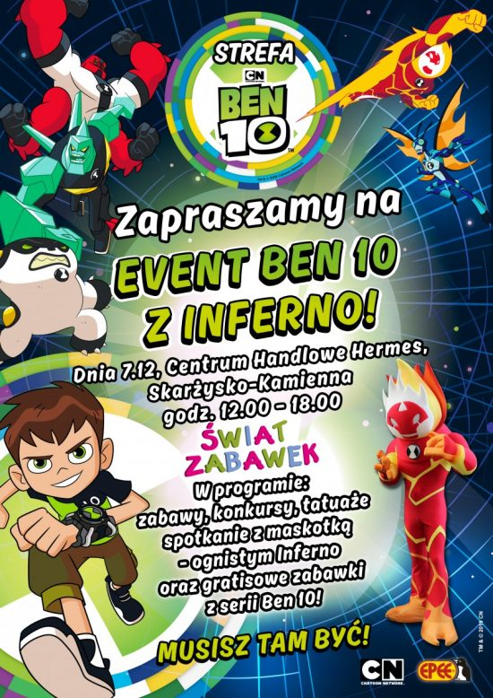 Świat Zabawek zaprasza na event Ben 10 z Inferno!