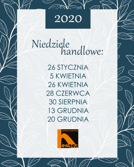 Niedziele handlowe 2020